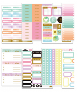 Stickers autocollants pour planners happy planner agenda personal