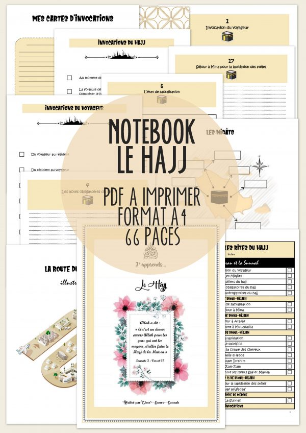 Notebook j'apprends le hajj