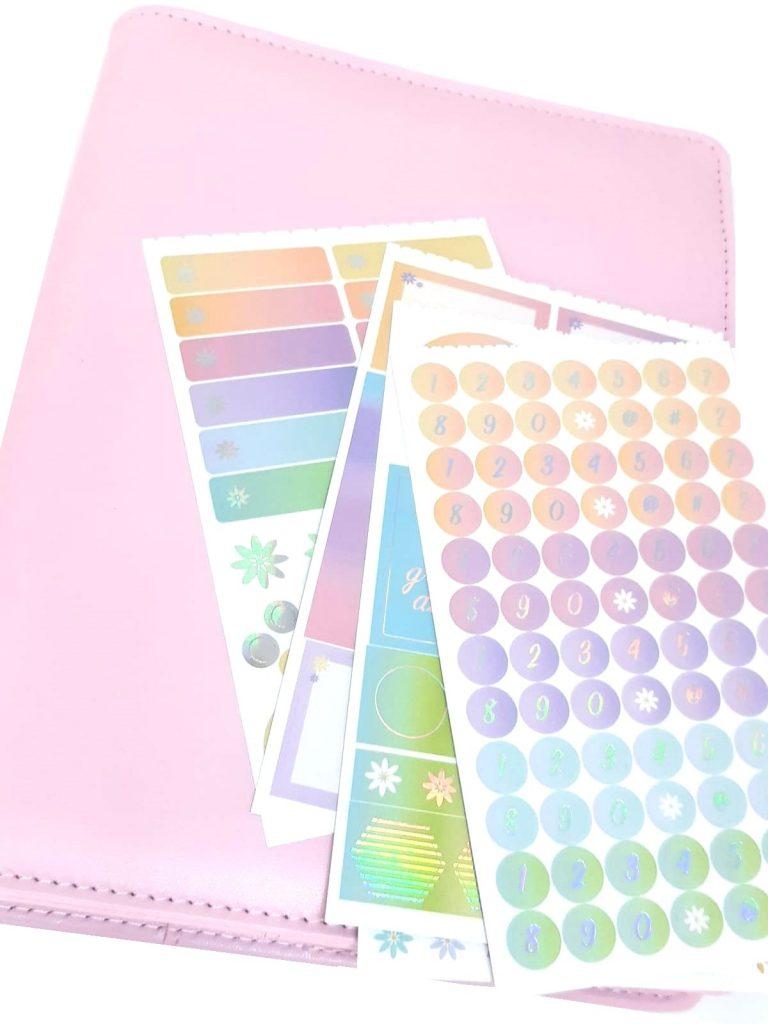 planches de stickers planners personnalisés