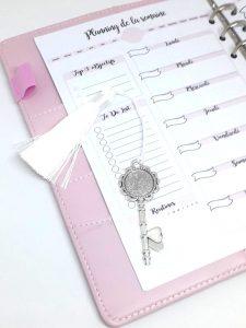 marque page bijou clé personnalisable planner planificasoeurs sunnah