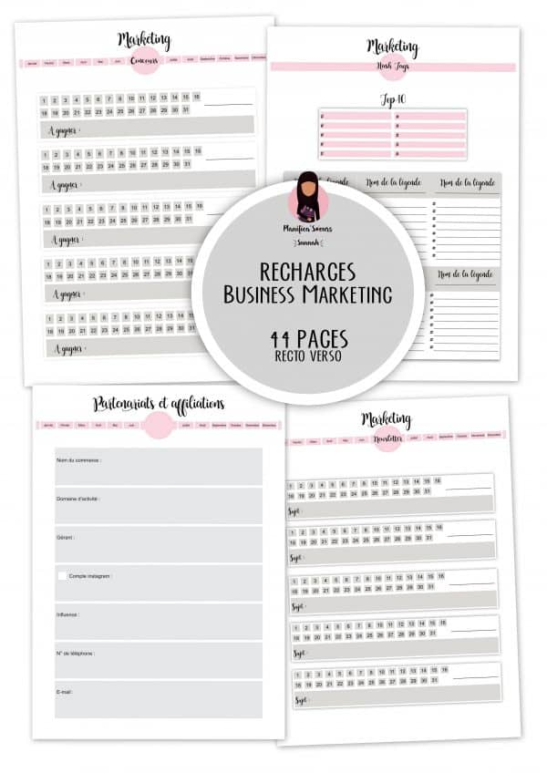 recharge plannerbusiness marketing planificasoeurs sunnah
