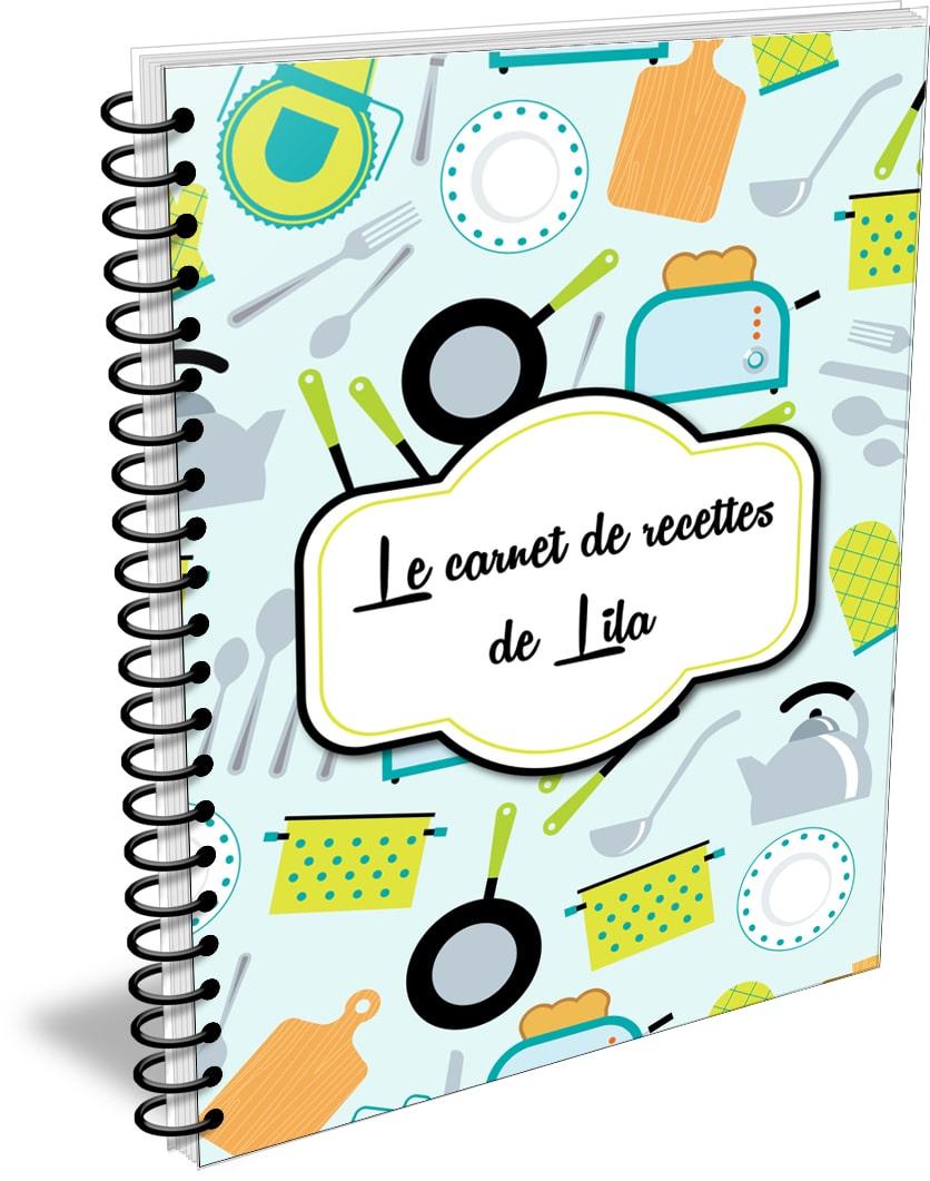 cahier de recettes personnalisable planificasoeurs sunnah