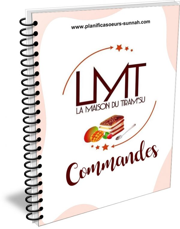 planner cahier de commandes desserts gateaux tiramisu cupcakes planificasoeurs sunnah
