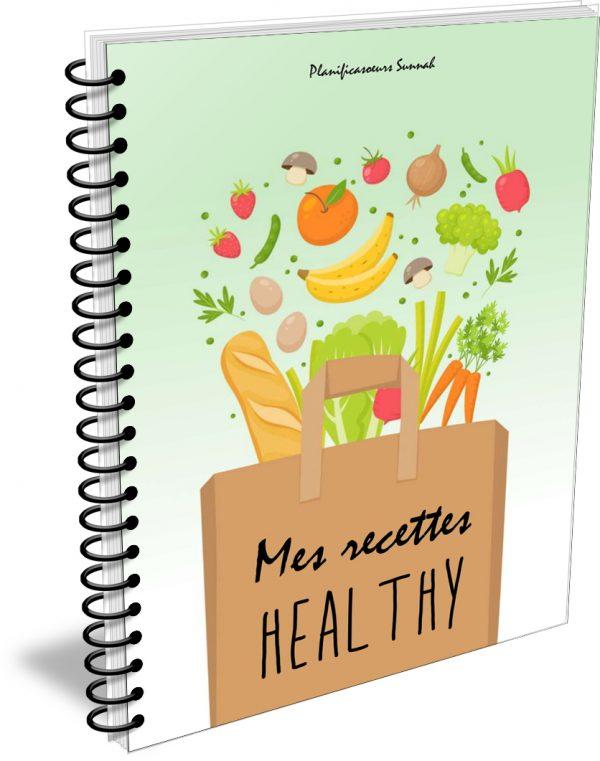 Carnet de recettes healthy planificasoeurs sunnah