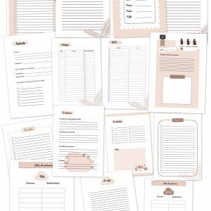 Planner carnet cahier grossesse planificasoeurs sunnah