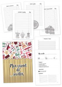 carnet recettes bois à imprimer planificasoeurs sunnah