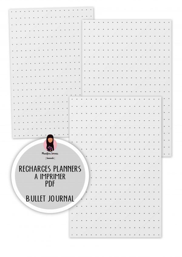 recharges planner à imprimer pointillés bullet journal planificasoeurs sunnah