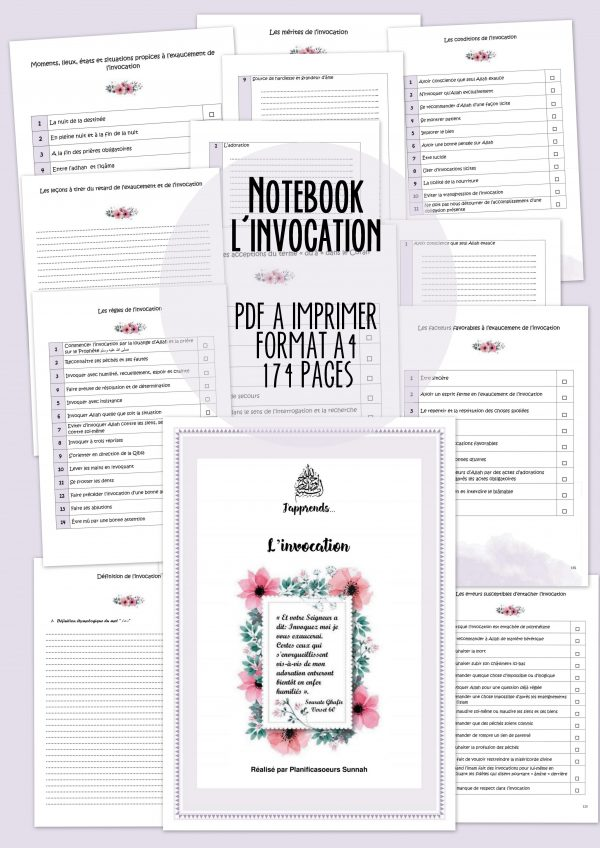 Notebook l'invocation planificasoeurs sunnah
