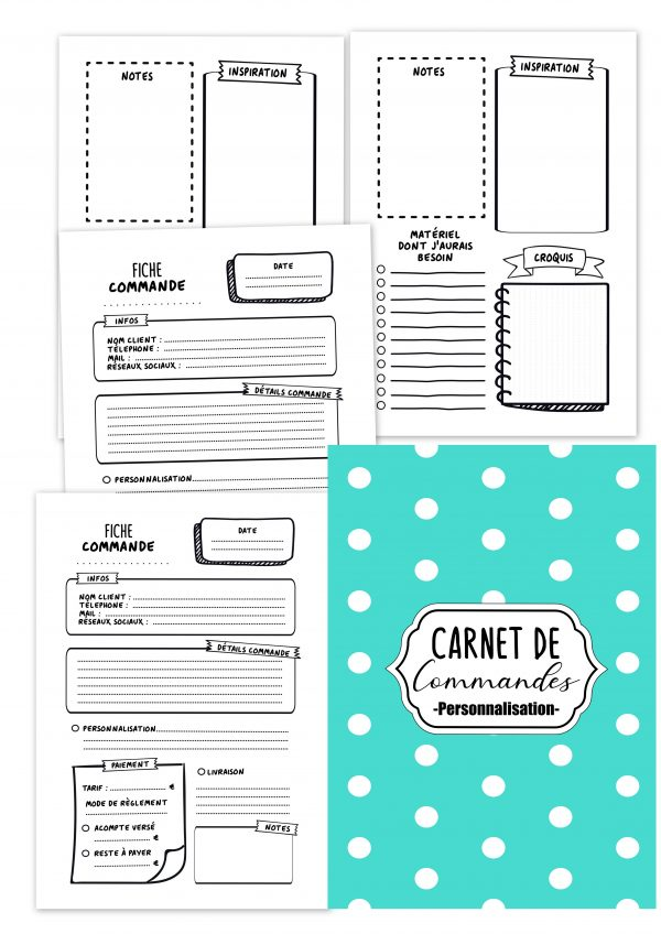 carnet de commandes professionnel business personnalisable planificasoeurs sunnah