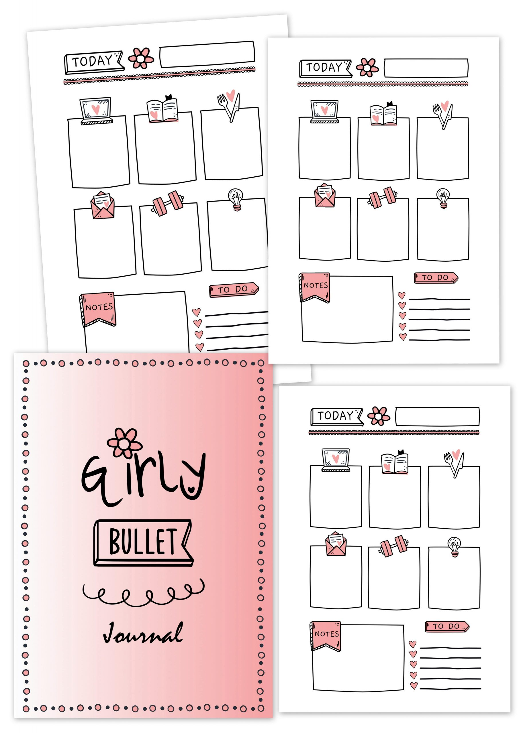 girly bullet journal fashion fille agenda cahier planner planificasoeurs sunnah