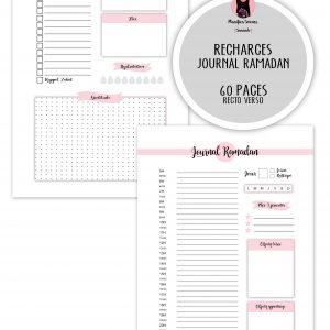 ramadan planner agenda recharge insert happy journal bullet planificasoeurs sunnah