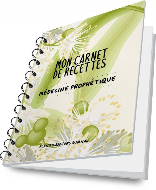 carnet cahier planner journal recettes médecine prophétique planificasoeurs sunnah