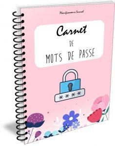 carnet cahier mots de passe codes secrets planificasoeurs sunnah rose
