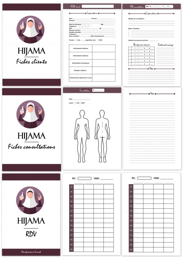 hijama carnet cahier cupp cupping planner planificasoeurs sunnah femme-
